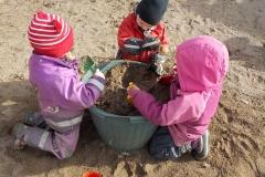 Teamwork i sandlådan