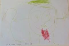 Barnen målar självporträtt varje år